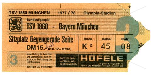 Eintrittskarte Bundesligaspiel  1978