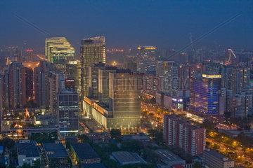 Beijing  cityview at night