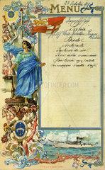 Menuekarte 1899
