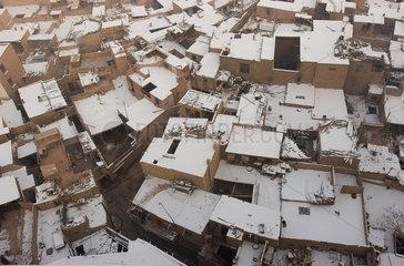 Kashgar  Stadt von oben   Kashgar  town from above