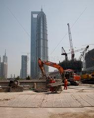 Shanghai  Grossbaustelle.