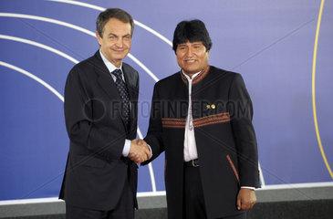 Zapatero + Morales
