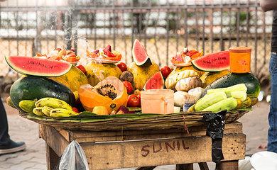 Fruchtstand in Indien