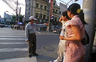 Shanghai  Menschen im Alltag