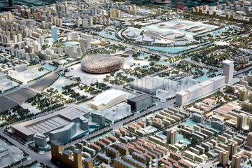 Beijing Planning Exhibition Hall  Stadtmodell  Austragungsorte Olympische Spiele 2008