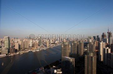 Shanghai  Stadtansicht mit Bund
