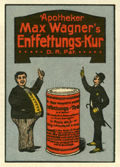 Entfettungskur  Werbemarke  1912