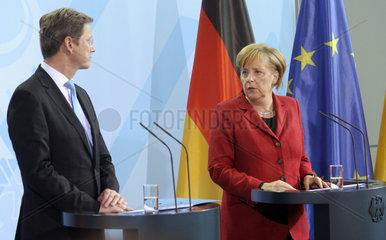 Westerwelle + Merkel