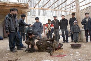 Kuga (Kuche)  uigurisches Familienfest | Kuga (Kuche)  uigur family celebration