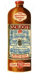 Flasche Schlichte Steinhaeger  Werbeng  1912