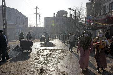 Kashgar  Provinz Xinjiang: Strasse in der Altstadt