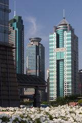 Shanghai  Buerogebaeude auf Pudong