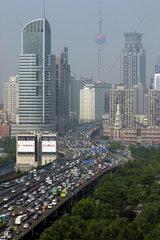Shanghai  Stadtautobahn