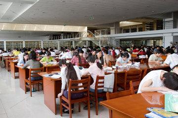 Leesesaal an der Universitaet von Urumqi | reading room