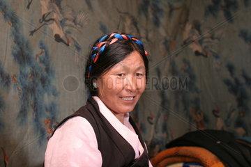 Tibet  Lhalu Wetlands  Tibeterin