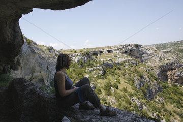 Felsenlandschaft in die Murgia