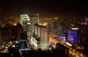 Peking  Blick ueber die Stadt