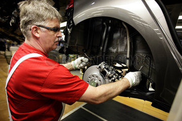 Car production at Volkswagen main plant