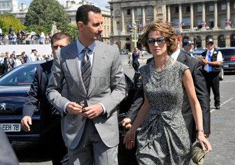 Bashar Al-Assad + Frau