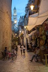 Italy  Apulia  Bari  old town movida by night