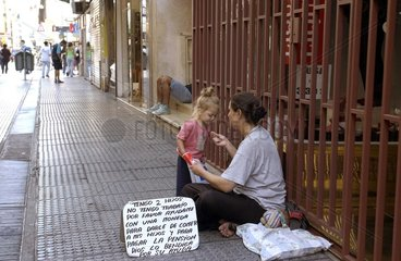 Obdachlose in Buenos Aires