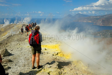 Auf dem Vulkan auf der Insel Vulcano (Italien).