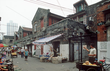 Shanghai  Strassenszene
