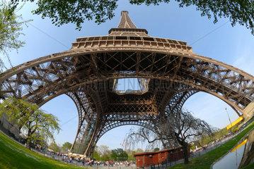 Eiffelturm in Paris  Frankreich.