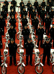 China  Shenyang  Fahrraeder fuer die Polizei