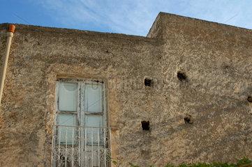 Hausfassade in Italien.
