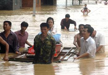 China  Ueberschwemmung in der Guangdong Provinz