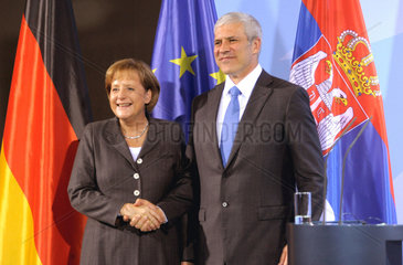 Merkel + Tadic