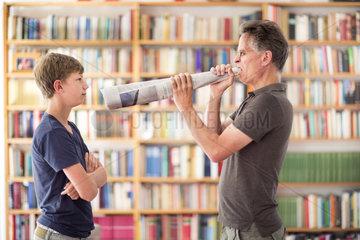 Kommunikation zwischen Vater und Sohn