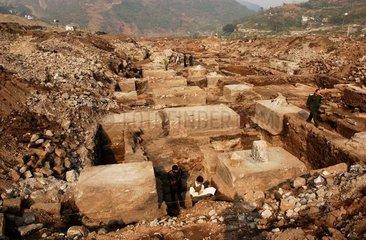 China  Chongqing  Ruinen eine Salzgrube
