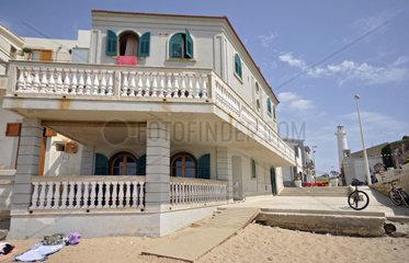 Italy  Sicily  Ragusa province  Marinella di Punta Secca  beach  Montalbano house