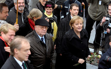 Gorbatschow + Merkel