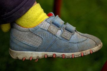 Kinder Schuh.