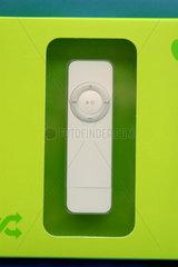 iPod shuffle verpackt.