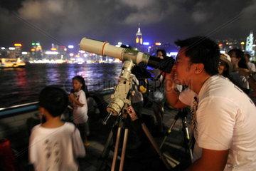 China  Mondfinsternis in Hongkong