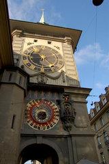 Der Zeitglockenturm (Zytglogge) in Bern  Schweiz.