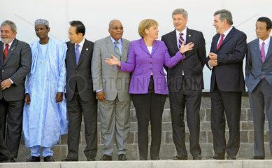 Lula + Yar'Adua + Myung-bak + Gethleyihlekisa + Merkel + Harueer + Brown + Aso