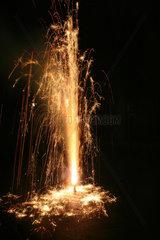Vulkan  Feuerwerk.