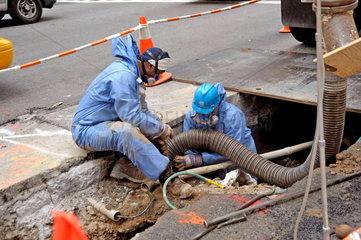 Gasleitung Reparatur