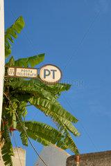 Post (Telegrafen - Station) auf Stromboli  eine der Liparischen Inseln  Italien.