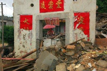 China  Xingning Stadt  Guangdong Provinz  Erdrutsch nach starken Regenfaellen