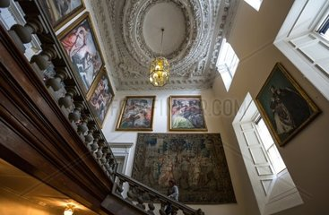 Great Britain  Scotland  Edinburgh  the Great Stair of the Holyroodhouse Palace.