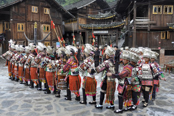 China  Guizhou province  Datang village  Miao tribe