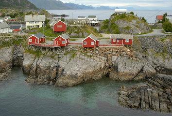 rorbuer auf den lofoten  norwegen.