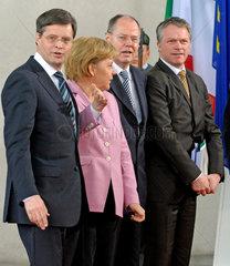 Balkenende + Merkel + Steinbrueck + Bos