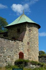 Mauer um die Festung akershus in Oslo  Norwegen